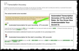 example rating transcription